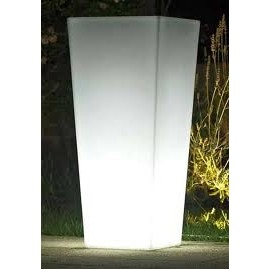 Euro3plast VASO KIAM QUADRO cm 40 LIGHT OUTDOOR + KIT LUCE RGB 7 COLORI