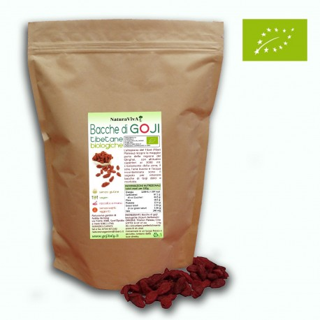 BACCHE DI GOJI TIBETANE BIOLOGICHE - SENZA SOLFITI - 500 gr